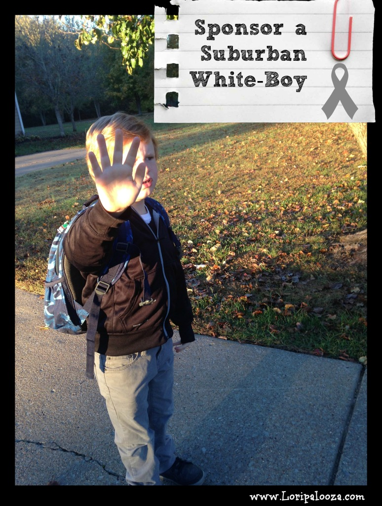 Sponsor A Suburban White-Boy